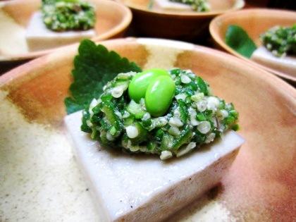 胡麻豆腐オクラ味噌仕立