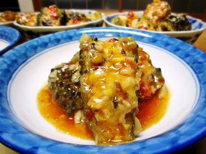 ゴーヤの古代米煮込み
