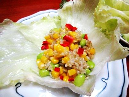 緑米のサラダ