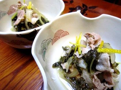 白菜と厚揚げの煮込み