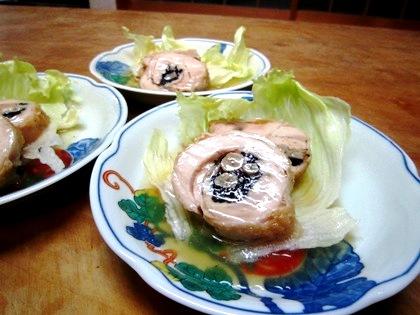 大和肉鶏とひじきのチャーシュー仕立て