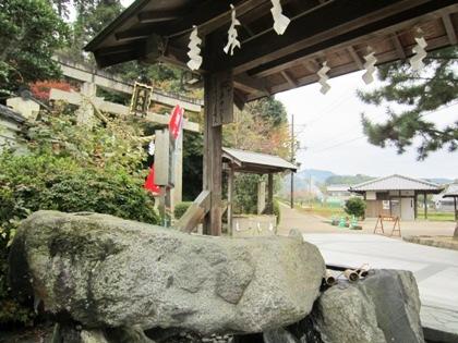 飛鳥坐神社の手水舎