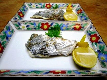 イトヒキアジの焼魚