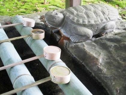 手水処の亀