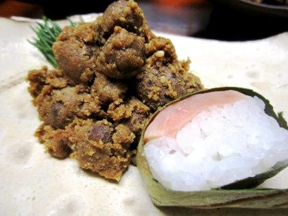 むかごの胡麻酢和え 柿の葉寿司