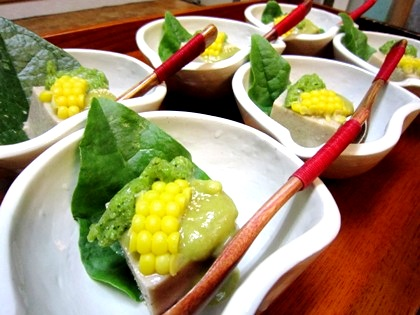 胡麻豆腐 大葉味噌 泡オクラ