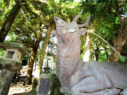 春日大社の手水場 奈良の鹿