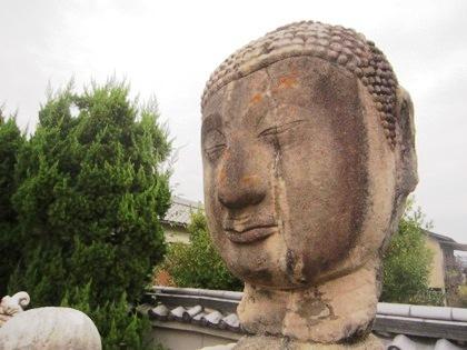 極楽寺の仏頭