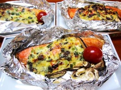 鮭の味噌マヨネーズ焼