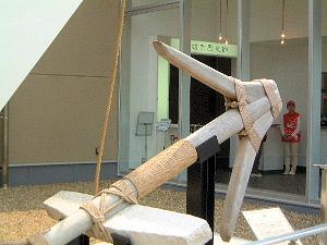 遣唐使船復原展示 船の錨
