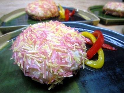 里芋の素麺揚げ