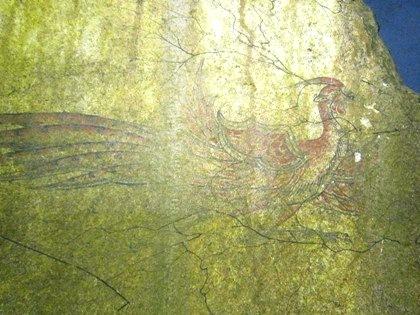 キトラ古墳の朱雀 飛鳥資料館