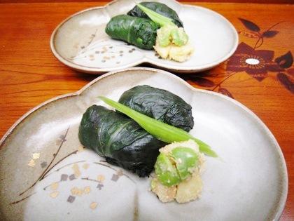 高菜の新じゃが寿司