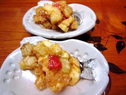 筍と長芋のかき揚げ