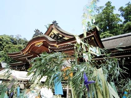 七夕祭 大神神社拝殿