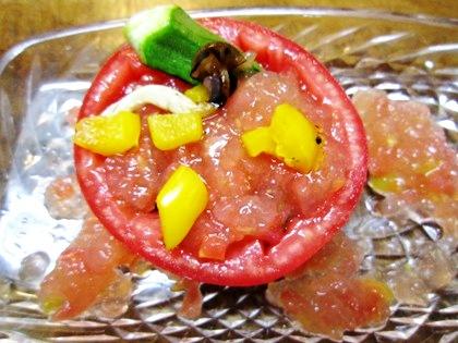 トマトの焼き野菜ゼリー寄せ
