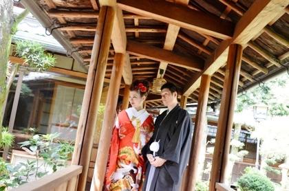 回廊 大神神社の結婚式ロケーション撮影