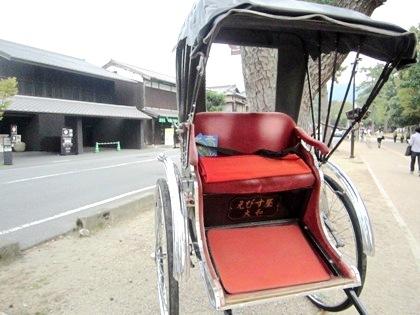 奈良公園の人力車